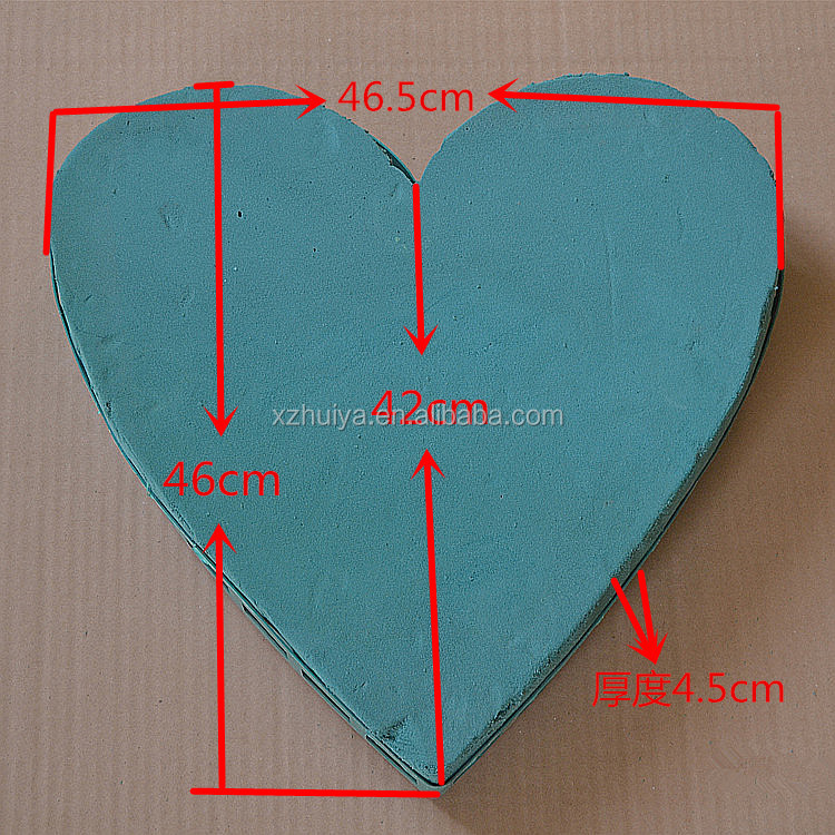 Hebei HUIYA Floral supplies large PE foam flower heart shape wedding decoration