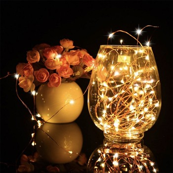 Copper wire led fairy string light for Christmas