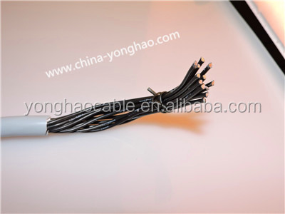 Multiconductor UL AWM 20276 flexible control system cable VW-1 30V 80C MULTICORE PVC Jacket