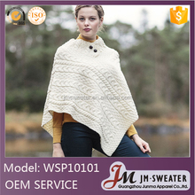 Chinese clothing manufacturer wholesale women clothing high quality knitting wear fashionable poncho