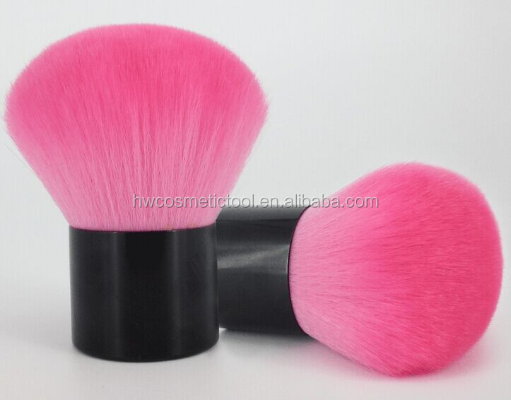 Pink synthetic hair kabuki cosmetic brush
