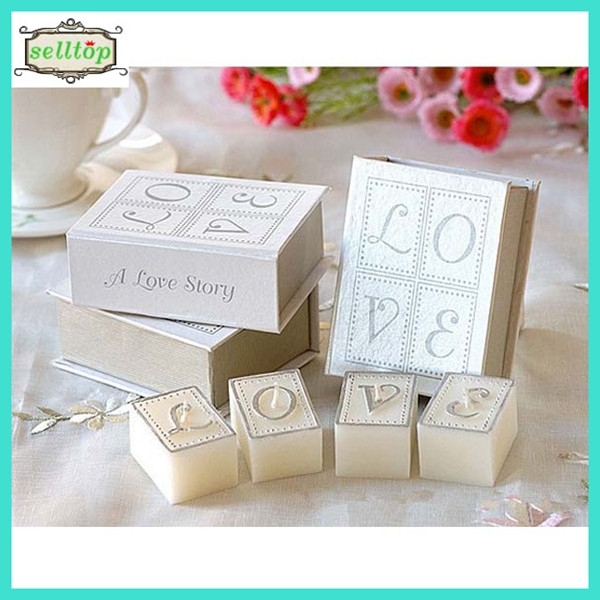 Hot sell love book candle indian wedding giveaway gifts