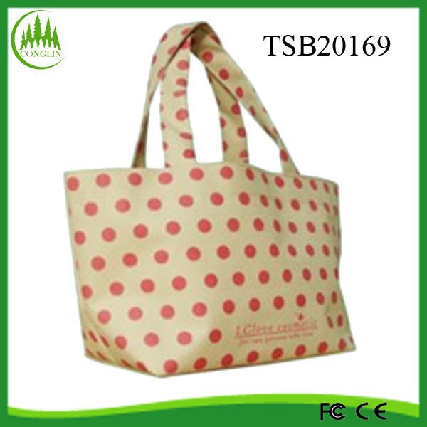 New Product 2015 Wholesale YIwu Eco Polka Dot Oxford Shopping Bags