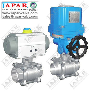 LPA12 Gas Valve Thread Ball Valve with Pneumatic Actuator