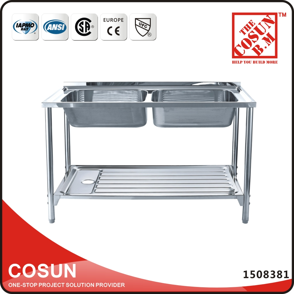 Portable Stand Alone Legs Stainless Steel Sink