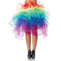 2015 Quanzhou walson Colorful Layered Lace up Dancing Tutu Rainbow Skirt Adult Sexy Clubwear
