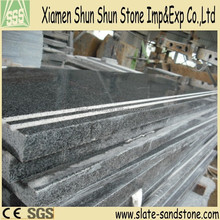 polished G654 black granite stair step tiles price and risers