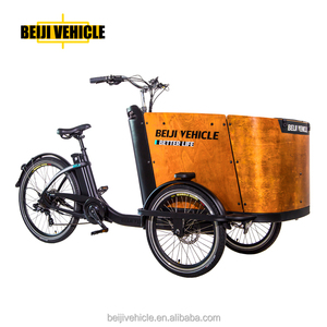 Danish bakfiets dutch bike 3 wheel electric cargo bike food tricycle