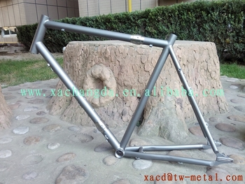 titanium MTB bike frame with S&S couple titanium bike frame