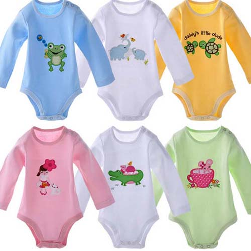 tc6210 baby clothing wholesale 100 cotton toddler jumpsuit long sleeve cute baby bodysuits