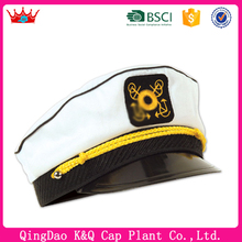 Hot sell chinese cheap high quality black and white captain army hat