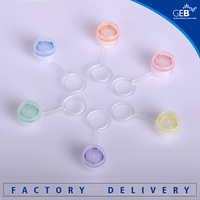 Plastic micro centrifuge tube 0.6ml with screw cap individual--bottom