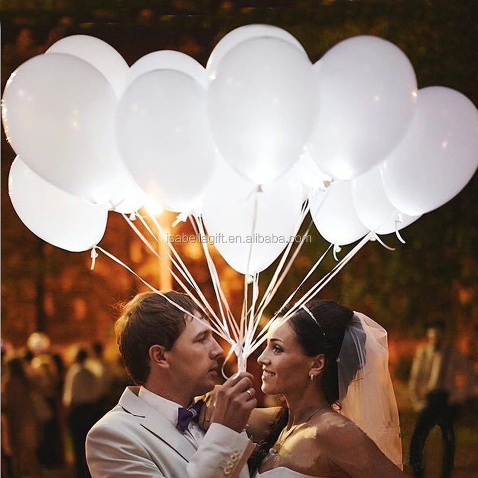 Led balloons patent inflatable led wedding party with light latex balloon advertising balloons