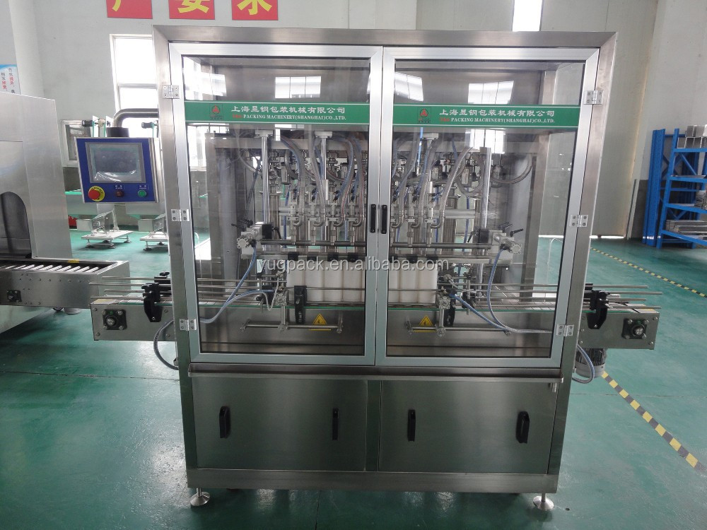 Auto chili sauce filling production line with 10 filling nozzles YGF-10G