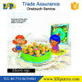 B/O ducky-go-round fishing game toys with light