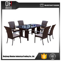 patio dining set outdoor 10 seater dining table H-rattan dining table setting