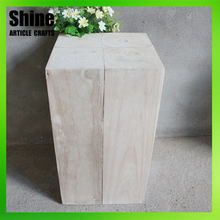 Outdoor garden most popular distressed wood stool