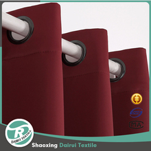 Dark Red 1 Panel luxury european style Blackout Grommet Curtains for Living Room