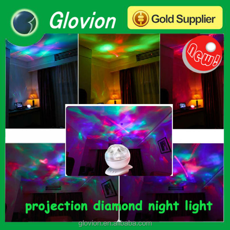 Hot sale mini party diamond light laser RGB 3w