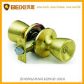 2016 Concise style bathroom door iron or brass Polish Brass finished tubular door lock