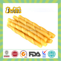 "5"" 10g-12g Chicken Flavor Wholesale Bulk Gluten Free Dog Treats Chews Rawhide Free Twist Stick Natural Pet Food"