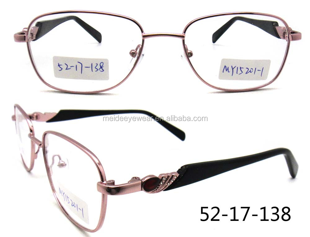 Stone new model metal lady and women cheap eyewear frame glasses