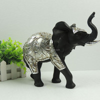 Resin Home Decors Silver Elephant Figurines Wholesale