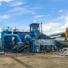 scrap metal hammer crusher waste metal crusher machine used buckets recycling production line with CE certificate in china