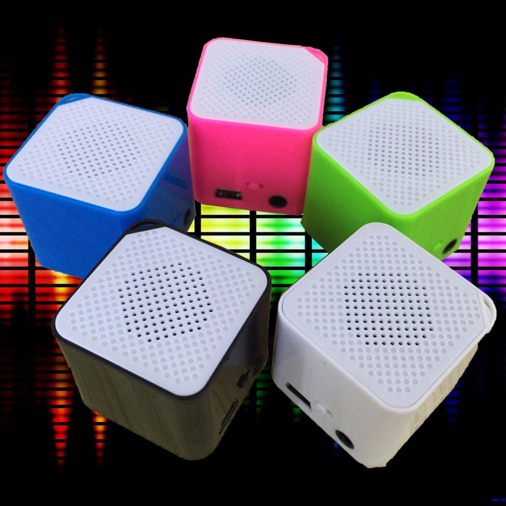 Hot Sale Mini Porable Square Cube MP3 Music Player Support TF Card lettore MP3 Small Speaker For Music Entertainment