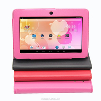 Leather Case Android 4.4 Tablets pc Quad Core WiFi Bluetooth 512MB 8GB 7 inch Tablet pc Android tablet