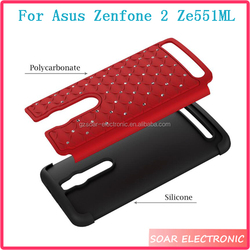 China Manufacture Protective Bling Diamond Mobile Phone Case For Asus Zenfone 2 Ze551ML