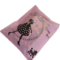 Wholesale cb-595 Pink Cute Girl Plastic Merchandise Retail Bags w Die-cut handle, Shop Equipment