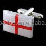 OEM China manufacturer Novelty rectangle shape classic England flag cufflinks, country flag cufflink with epoxy/resin