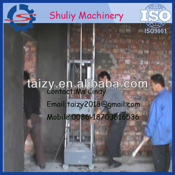 Economical auto plaster machine for wall, wall render machine // 0086-15838061759