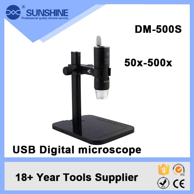 Wholesale Portable 500x 2mp Digital Usb Microscope Software With 8 Led Light