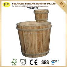 wholesale custom natural wooden bucket for packing