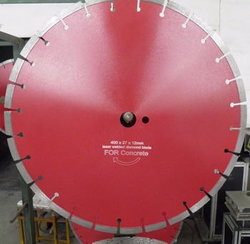 400mm concrete cutter/diamond saw blade for cutting cured concrete