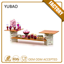 Wooden Boards Pop Up Square Commercial Restaurant Hot Pot Table Wholesale