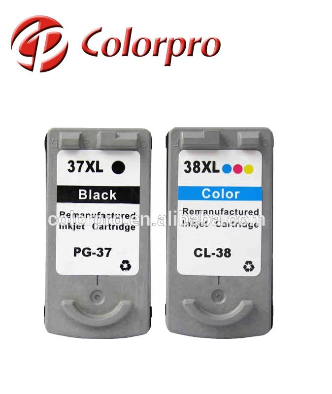 2018 hot sell in alibaba inkjet cartridge PG37 CL38 for canon PIXMA iP1800/ MP190/ MP210