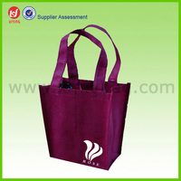 Recycled Custom Printing 100gsm Mini Non woven Wine Bottle Bag