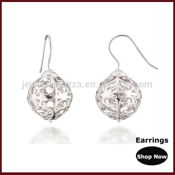 classic heart harmony ball angel caller hook earrings wholesale