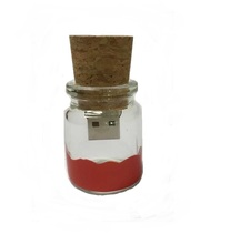 OEM Glass Bottle Custom USB Flash Pen Drive Memory Stick 1GB