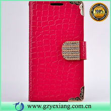 Fashion snake skin cover for iphone 5 5s leather flip case