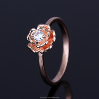 Diamond 925 Sterling Silver Ring Flower Carving Finger Ring