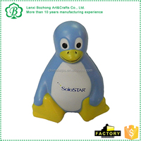 Lovely penguin shape pu stress ball, 2016 best promotion gifts