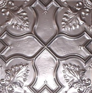 VINTAGE Silver Copper 600*1800 embossed metal plates