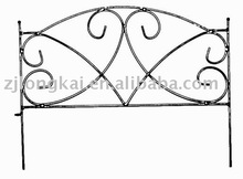 black powder coated decorative metal small garden fence factory