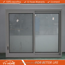 YY Home aluminum double glazed thickness of sliding window glass sliding window