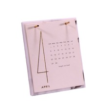 acrylic desk calendar with crystal bar