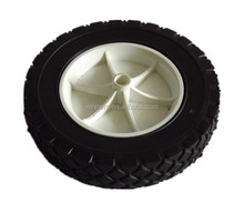 7X1.75 inch solid rubber garden cart wheel